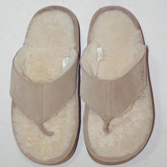 Ll Bean Sherpa Thong Flip Flops Sandals